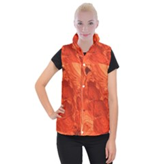 Fantastic Wood Grain 917a Women s Button Up Puffer Vest by MoreColorsinLife