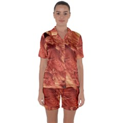 Fantastic Wood Grain 917b Satin Short Sleeve Pyjamas Set by MoreColorsinLife