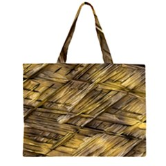 Grannys Hut   Structure 1a Zipper Large Tote Bag by MoreColorsinLife