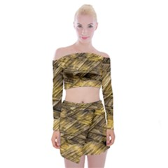 Grannys Hut   Structure 1a Off Shoulder Top With Mini Skirt Set