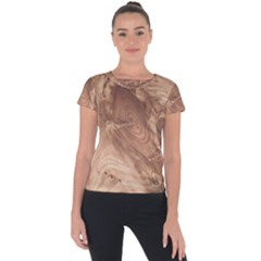 Fantastic Wood Grain 917c Short Sleeve Sports Top  by MoreColorsinLife