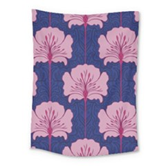 Beautiful Art Nouvea Floral Pattern Medium Tapestry by 8fugoso
