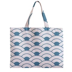 Art Deco Teal White Zipper Mini Tote Bag by 8fugoso