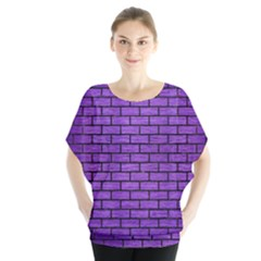Brick1 Black Marble & Purple Brushed Metal Blouse by trendistuff