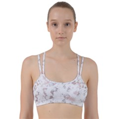 Pure And Beautiful White Marple And Rose Gold, Beautiful ,white Marple, Rose Gold,elegnat,chic,modern,decorative, Line Them Up Sports Bra by 8fugoso