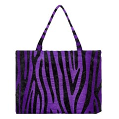 Skin4 Black Marble & Purple Brushed Metal (r) Medium Tote Bag by trendistuff