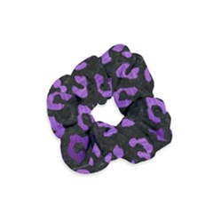 Skin5 Black Marble & Purple Brushed Metal Velvet Scrunchie