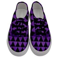 Triangle2 Black Marble & Purple Brushed Metal Men s Classic Low Top Sneakers