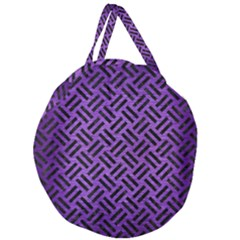 Woven2 Black Marble & Purple Brushed Metalwoven2 Black Marble & Purple Brushed Metal Giant Round Zipper Tote