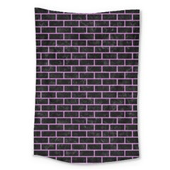 Brick1 Black Marble & Purple Colored Pencil (r) Large Tapestry by trendistuff