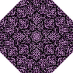 Damask1 Black Marble & Purple Colored Pencil (r) Straight Umbrellas by trendistuff
