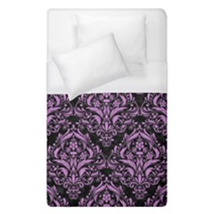 Damask1 Black Marble & Purple Colored Pencil (r) Duvet Cover (single Size) by trendistuff