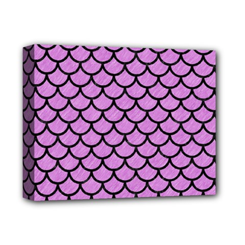 Scales1 Black Marble & Purple Colored Pencil Deluxe Canvas 14  X 11  by trendistuff