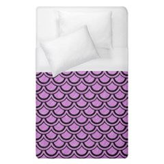 Scales2 Black Marble & Purple Colored Pencil Duvet Cover (single Size) by trendistuff