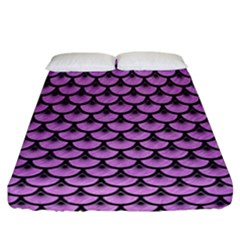 Scales3 Black Marble & Purple Colored Pencil Fitted Sheet (california King Size) by trendistuff