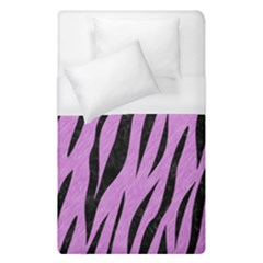Skin3 Black Marble & Purple Colored Pencil Duvet Cover (single Size) by trendistuff