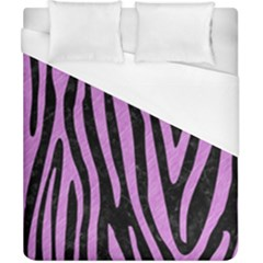 Skin4 Black Marble & Purple Colored Pencil Duvet Cover (california King Size) by trendistuff