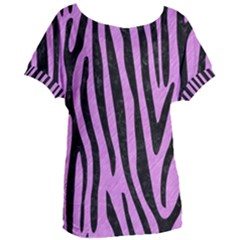 Skin4 Black Marble & Purple Colored Pencil (r) Women s Oversized Tee by trendistuff