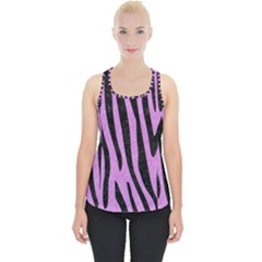 Skin4 Black Marble & Purple Colored Pencil (r) Piece Up Tank Top