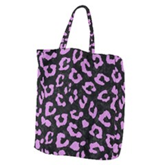 Skin5 Black Marble & Purple Colored Pencil Giant Grocery Zipper Tote