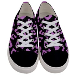 Skin5 Black Marble & Purple Colored Pencil Women s Low Top Canvas Sneakers