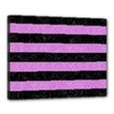STRIPES2 BLACK MARBLE & PURPLE COLORED PENCIL Canvas 20  x 16  View1