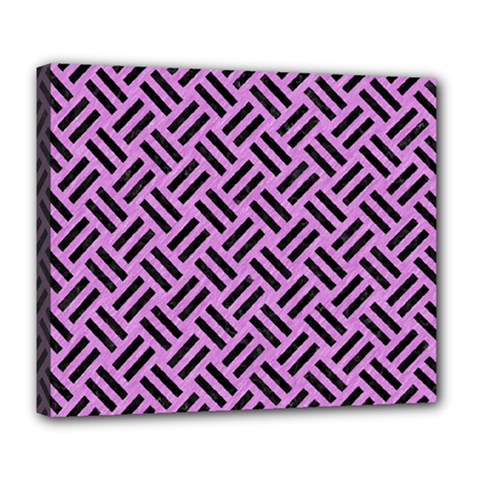 Woven2 Black Marble & Purple Colored Pencil Deluxe Canvas 24  X 20   by trendistuff