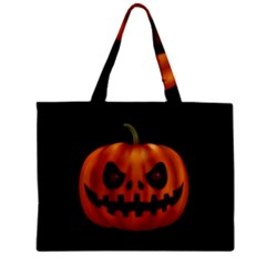 Halloween Pumpkin Zipper Mini Tote Bag