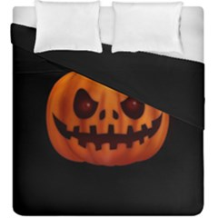 Halloween Pumpkin Duvet Cover Double Side (king Size)