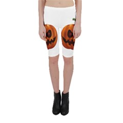 Halloween Pumpkin Cropped Leggings