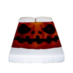 Halloween Pumpkin Fitted Sheet (full/ Double Size) by Valentinaart