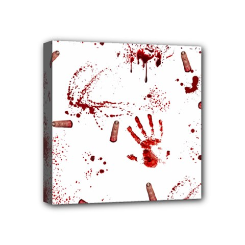Massacre  Mini Canvas 4  X 4  by Valentinaart