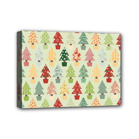 Christmas Tree Pattern Mini Canvas 7  X 5  by Valentinaart