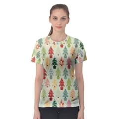Christmas Tree Pattern Women s Sport Mesh Tee by Valentinaart