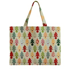 Christmas Tree Pattern Zipper Mini Tote Bag by Valentinaart