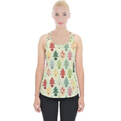 Christmas Tree Pattern Piece Up Tank Top
