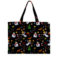 Christmas Pattern Zipper Mini Tote Bag by Valentinaart