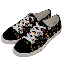Christmas Pattern Women s Low Top Canvas Sneakers by Valentinaart