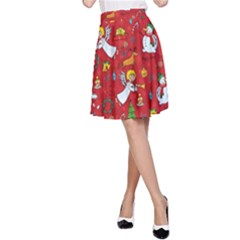 Christmas Pattern A Line Skirt