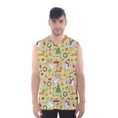 Christmas Pattern Men s Basketball Tank Top