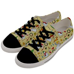 Christmas Pattern Men s Low Top Canvas Sneakers by Valentinaart