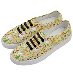 Christmas Pattern Women s Classic Low Top Sneakers by Valentinaart