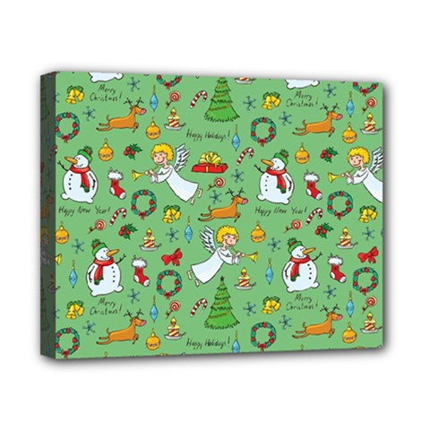 Christmas Pattern Canvas 10  X 8  by Valentinaart