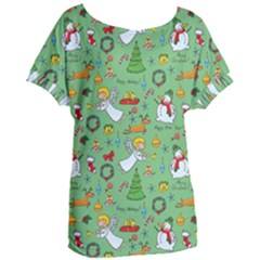 Christmas Pattern Women s Oversized Tee