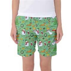 Christmas Pattern Women s Basketball Shorts