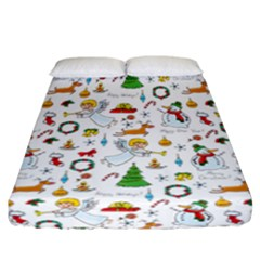 Christmas Pattern Fitted Sheet (california King Size) by Valentinaart