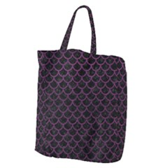 Scales1 Black Marble & Purple Leather (r) Giant Grocery Zipper Tote by trendistuff