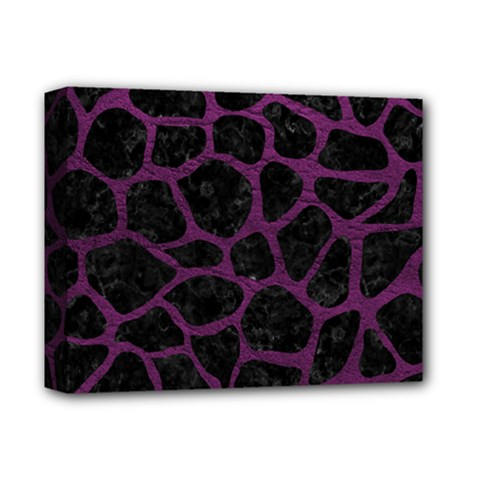 Skin1 Black Marble & Purple Leather Deluxe Canvas 14  X 11  by trendistuff