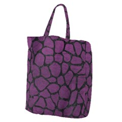Skin1 Black Marble & Purple Leather (r) Giant Grocery Zipper Tote by trendistuff