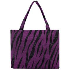 Skin3 Black Marble & Purple Leather Mini Tote Bag by trendistuff